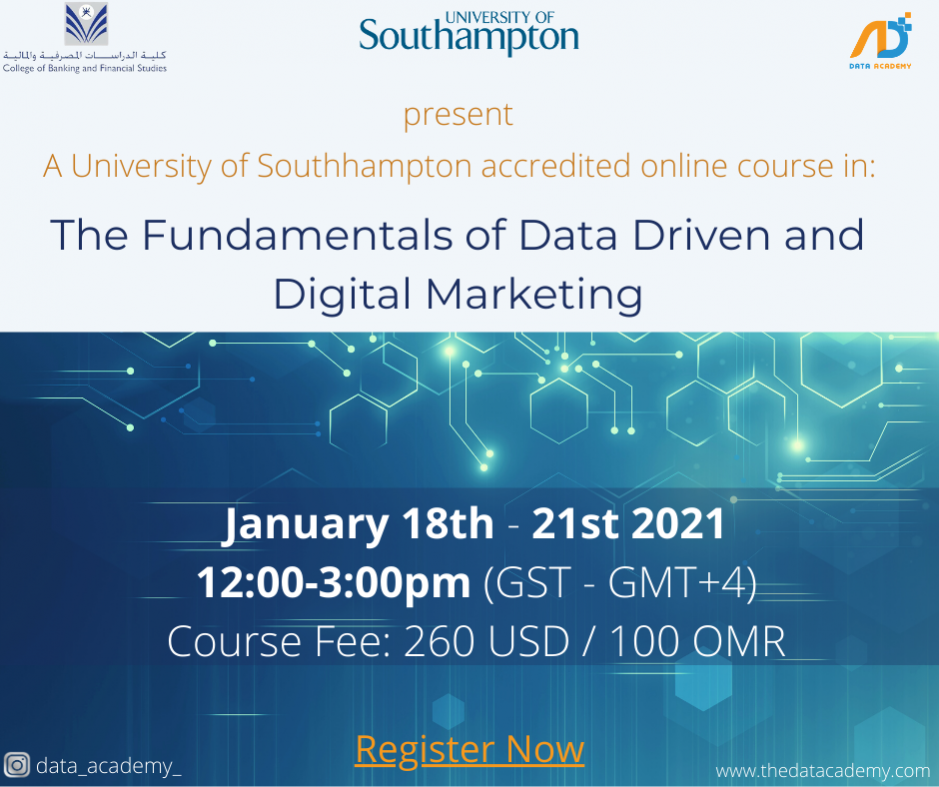 The Fundamentals of Digital and Data Driven Marketing Course.